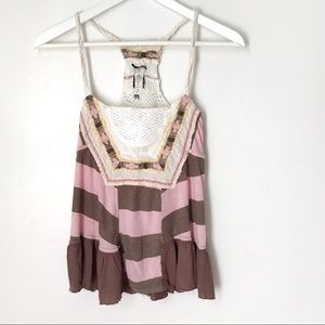 Free People Boho Crochet Lace Top. XS (or Small)